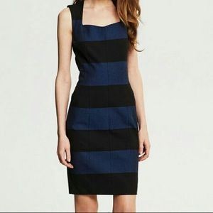 Banana Republic Navy Fitted Dress